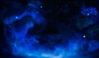 beautiful Universe background with stars, nebula and galaxy, deep space