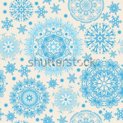 Image Beaux flocons de neige. Abstrait sans soudure avec des éléments branchés. Modèle de vecteur pour la conception web, textile, graphisme.