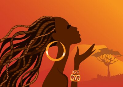 Image Belle femme noire. Femme africaine.