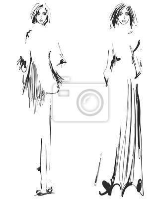 Image Belle Jeune Fille Pour Le Design Mannequin Style Dessin De
