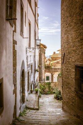 Image Belle rue de Cortone, Toscane