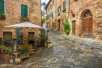 Image Belle ruelle à Montepulciano, Toscane, Italie
