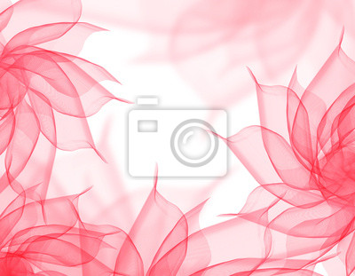 Belles Fleurs Romantique Voile Rose Sur Fond Blanc Peintures Murales