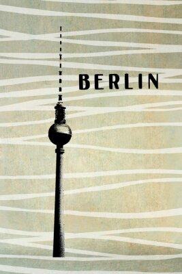 Image Berlin, vendange, carte postale - tv, tour, lettres, résumé, backg