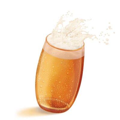 Image bière, en verre, boire, giclé, débordé, mousse, alcool, froid, isolé, boisson, écume, blanc, liquide, décalage, pinte, bar, jaune, or, rafraîchissement, objet, ale, complet, chope, pub, bouillonner, f