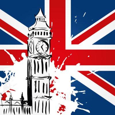 Image Big Ben devant l'Union Jack