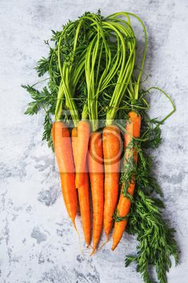 Bio carrots top view