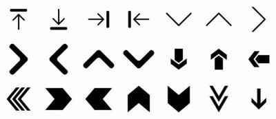 Image black arrow icon set