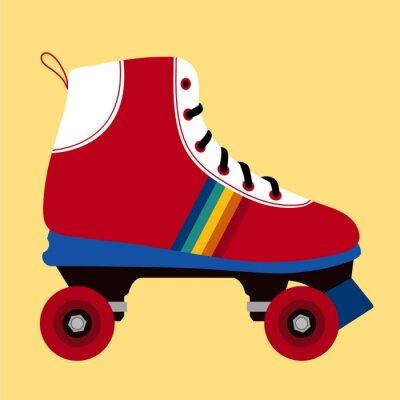 Image Blanc et rouge patinage chaussure