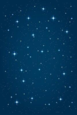 Image Bleu, nuit, étoilé, fond Vecteur, vertical, conception, Gabarit