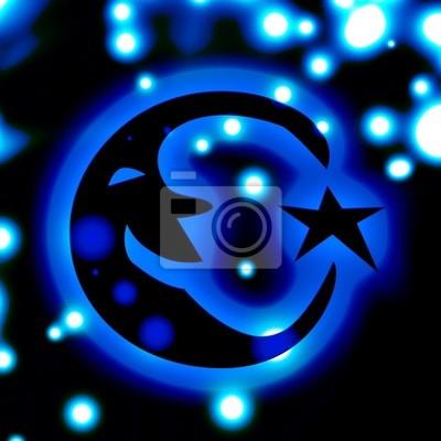 bleu nuit sur fond de ciel avec les étoiles et la lune