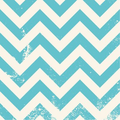Image blue chevron pattern with distressed texture