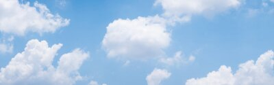 Image blue sky background with white clouds during day . panorama .