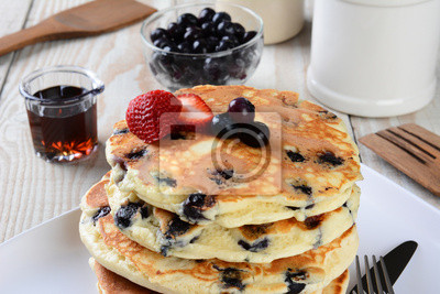 Blueberry Pancake Closeup