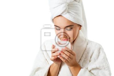 bocal en odeur de femme avec gommage