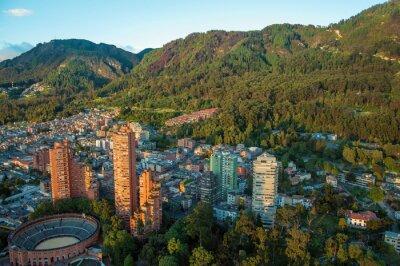 Image Bogota et la Cordillère des Andes