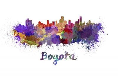 Image Bogota horizon à l'aquarelle