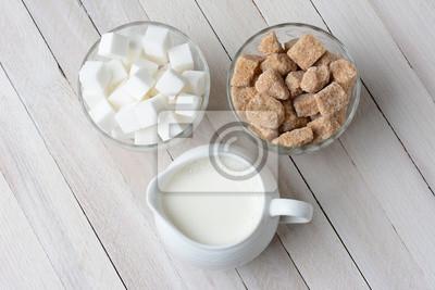 Bols de sucre et la crème