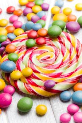 Image bonbons colorés et sucette