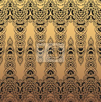 Dentelle Dessin bordure en or transparente de motifs en dentelle. dessin oriental