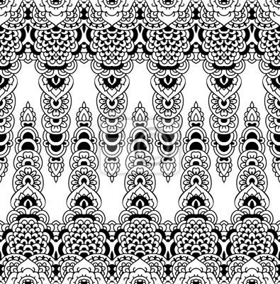 Dentelle Dessin bordure transparente de motif en dentelle. dessin oriental dune