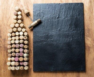 Image Bouchons de vin en forme de bouteille de vin.