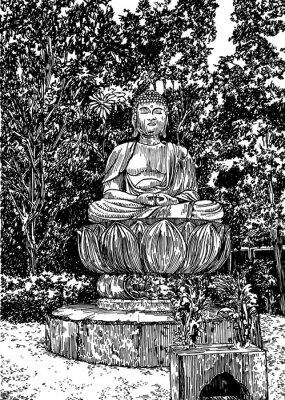 Image Bouddha de pierre