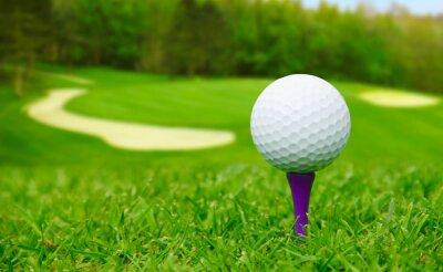 Image Boule de golf sur le parcours