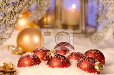 Boules de Noël avec netteté selctive