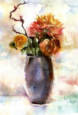 Image Bouquet d'aquarelle de fleurs
