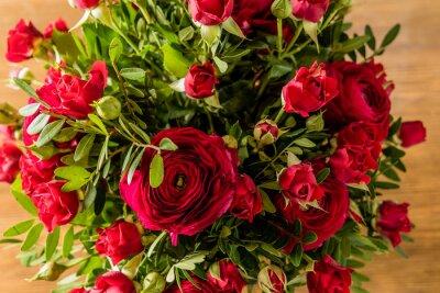 Image Bouquet de roses rouges