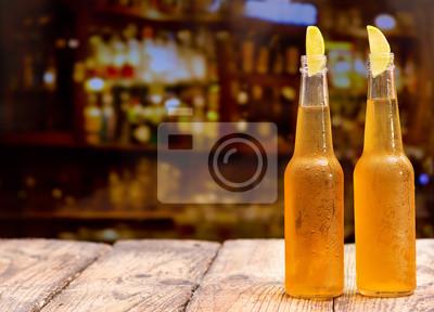 Bouteilles de bière à la chaux