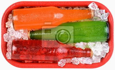 bouteilles de soda sur glace