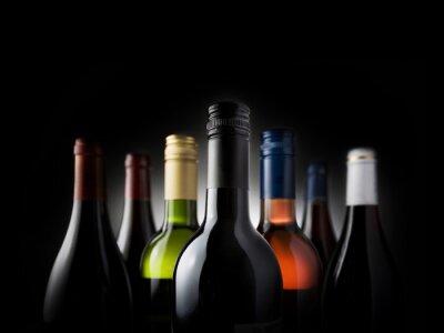 Image bouteilles multi-noirs - Image