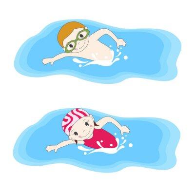 Image Boy et la natation dans la piscine