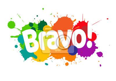 Bravo! peintures murales • tableaux éclaboussures, place, arc en ...