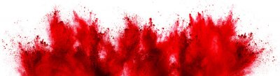 Image bright red holi paint color powder festival explosion isolated white background. industrial print concept background