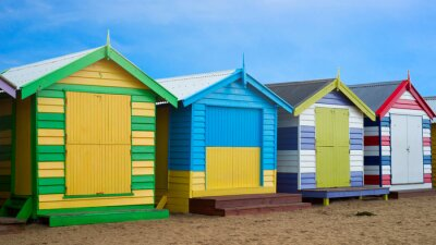 Image Brighton beach boxes, Melbourne, Australie