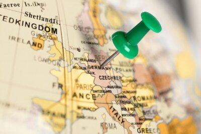 Image Broches vert sur la carte.