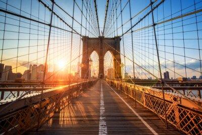 Image Brooklyn Bridge in New York City USA