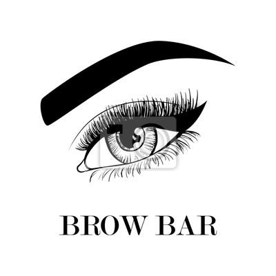 Image Brow Bar Modele De Carte Visite Bel Oeil Et Sourcils Pour Le Logo