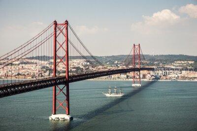 Image Brücke Ponte 25 de Abril à Lisbonne