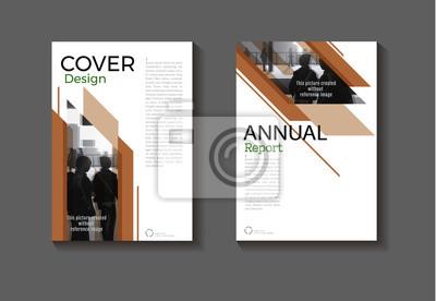 Brun Modele Couverture De Livre Couverture Moderne Couverture Peintures Murales Tableaux Infographique Depliant Bulletin Myloview Fr