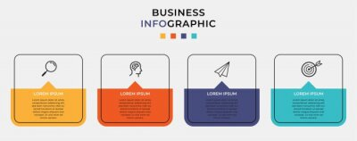 Image Business Infographic design template Vector with icons and 4 four options or steps. Can be used for process diagram, presentations, workflow layout, banner, flow chart, info graph