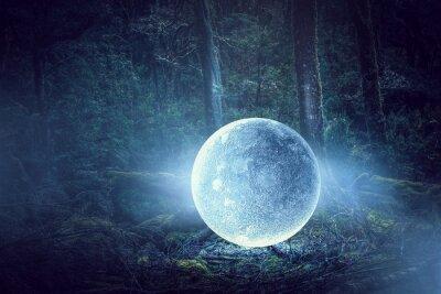 Image C'est la pleine lune. Médias mélangés