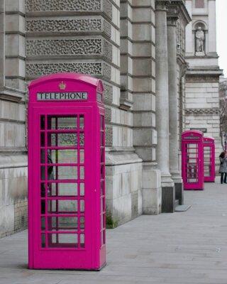 Cabines Telephoniques A Londres Peintures Murales Tableaux