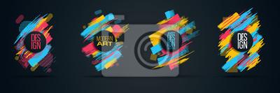 Image Cadre vectoriel pour le texte Modern Art graphics for hipsters