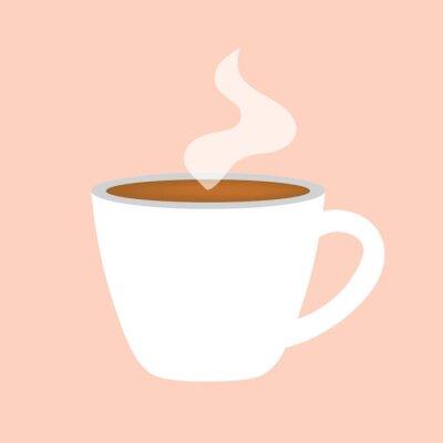 Image café chaud tasse icône illustration vectorielle