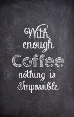 Image Café, citation, écrit, craie, noir, planche