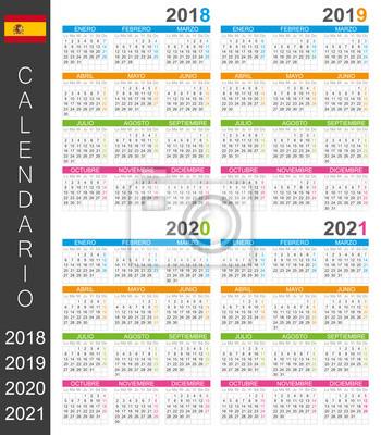 Calendrier Espagnol 2021 Calendrier 2018 2019 2020 2021 / modèle de calendrier espagnol